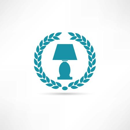 lamp shade: reading-lamp icon