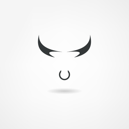 corrida: ic�ne taureau Illustration