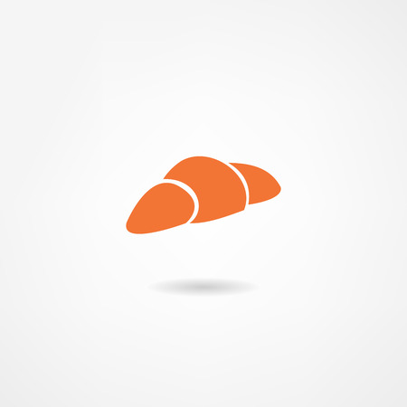 nibble: croissant icon Illustration