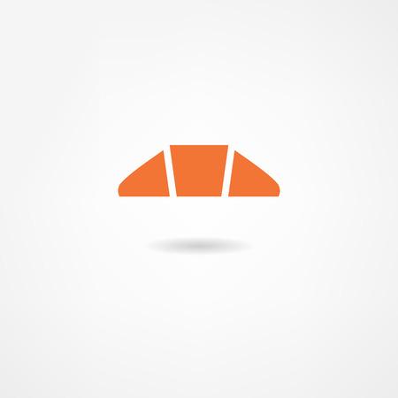 sugarplum: croissant icon Illustration