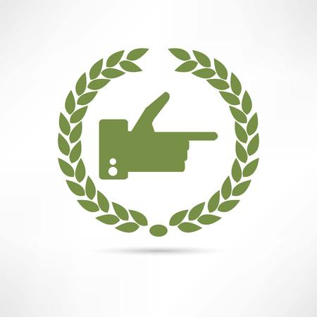 finger icon Stock Vector - 22535770