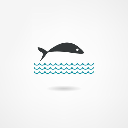 scale icon: fish icon
