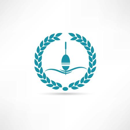 fly fisherman: float fishing icon