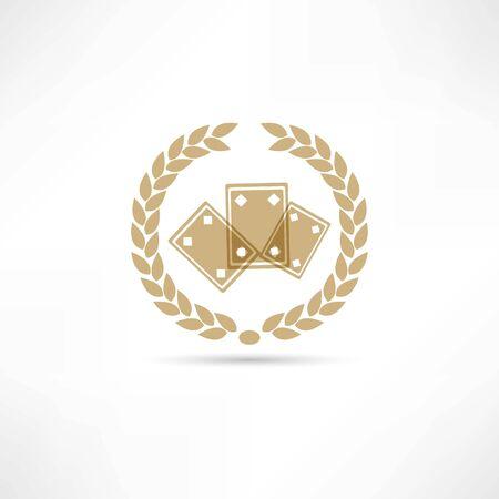 hold em: card game icon Illustration
