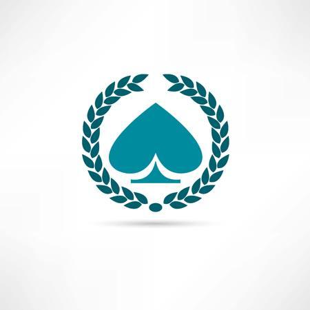 hold'em: card game icon Illustration