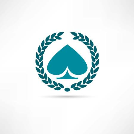 card game icon Stock Illustratie
