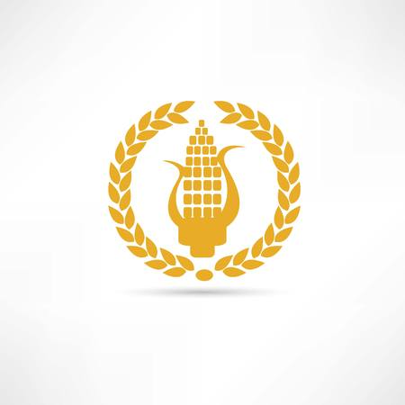 corn icon Illustration