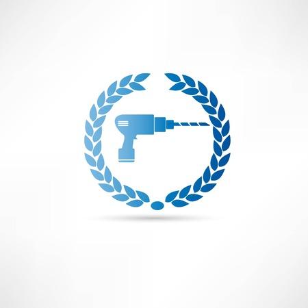 reconditioning: repair icon Illustration