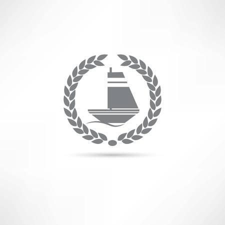 sailfish: pesce vela icona Vettoriali