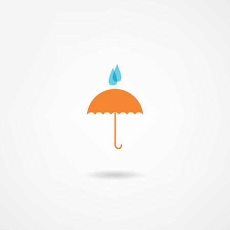 rainy season: umbrella icon
