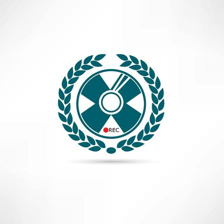 recordable media: CD disk icon Illustration