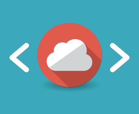 Cloud service concept icon Vector