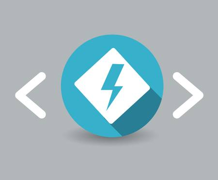 flat design energy icon Vector