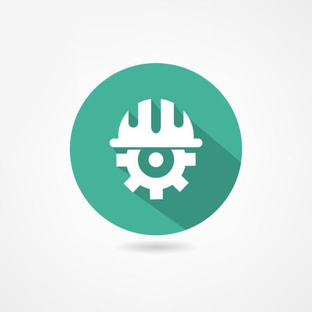 エンジニアのアイコン  イラスト・ベクター素材
