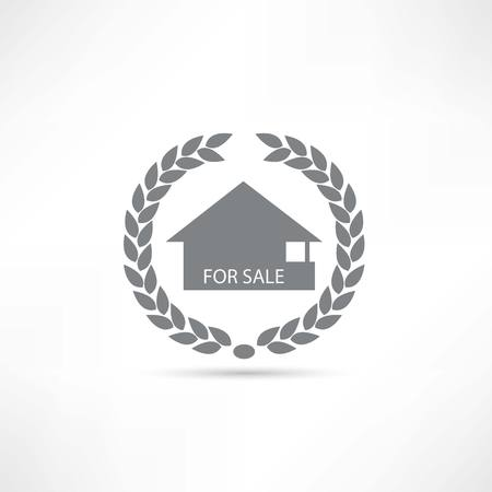 house for sale: House for sale icon Illustration