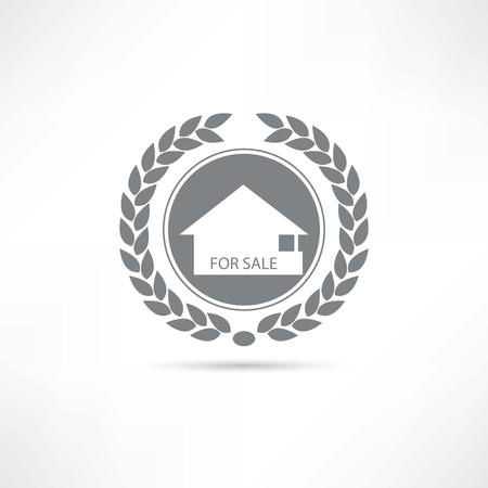 treaty: House for sale icon Illustration