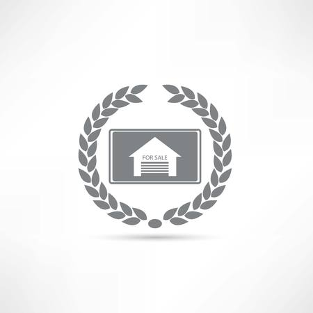 appraise: House for sale icon Illustration