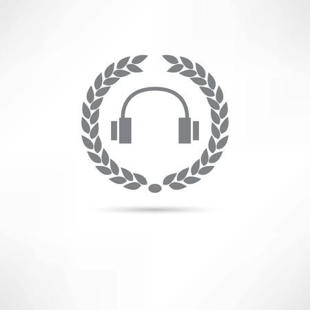 음악 아이콘과 폴더 일러스트