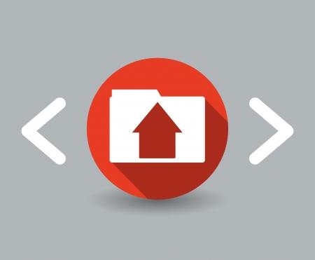 flat design house icon Stock Vector - 22660914