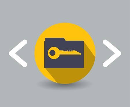 flat key design icon Illusztráció