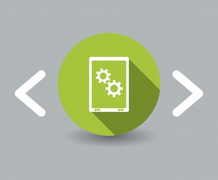 slim design phone icon