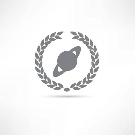 planet icon  イラスト・ベクター素材