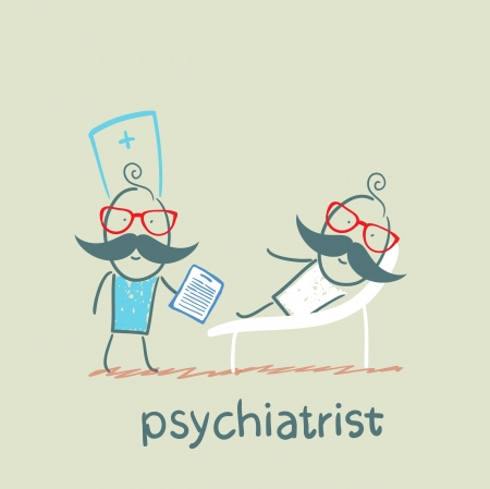 psychiatrist: Psychiatrist says to the patient, who is lying on the couch