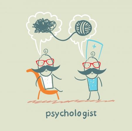 psycholoog zegt tegen de patiënt, en lost problemen op