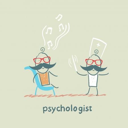 psychologist: psychologist conducts a patient tells notes