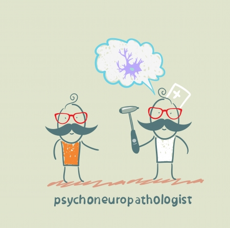 cellule nervose: psychoneuropathologist parla con il paziente sulle cellule nervose