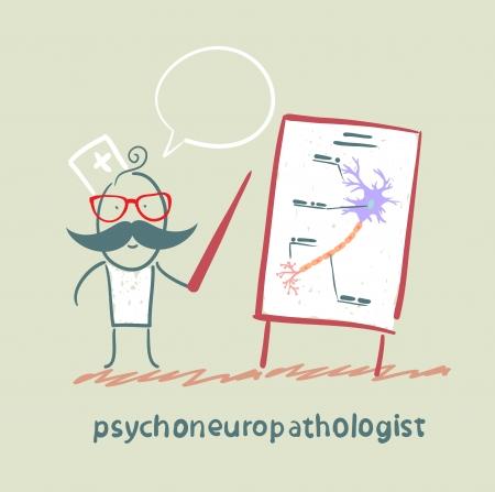 cellule nervose: psychoneuropathologist dice la presentazione delle cellule nervose Vettoriali