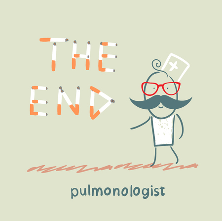 pulmonology: pulmonologist from cigarettes to put the words  the end