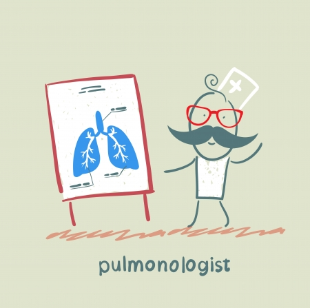 internist: pulmonologist says lung