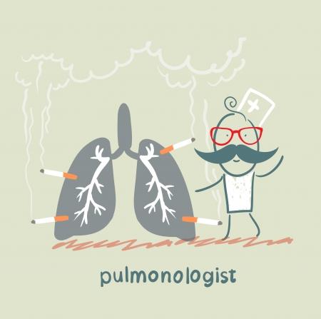 pulmonologist with light smoker Vector
