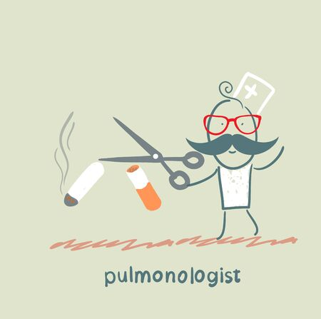 internist: pulmonologist scissor cigarette