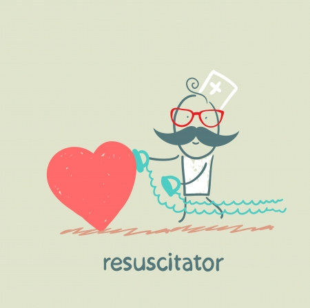resucitador prisa el coraz�n est� enfermo Foto de archivo - 22661631