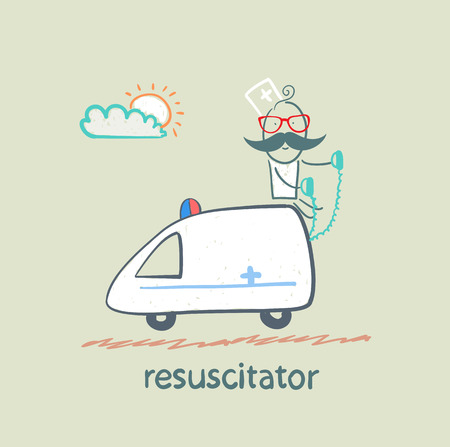 resuscitator rides in the ambulance