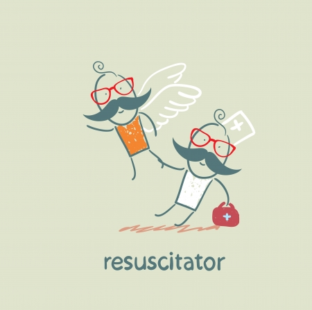 cardiopulmonary: resuscitator keeps flying away into the sky patient