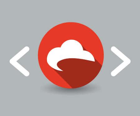 flat design sky icon 向量圖像