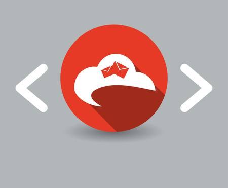 cloudburst: flat design sky icon Illustration