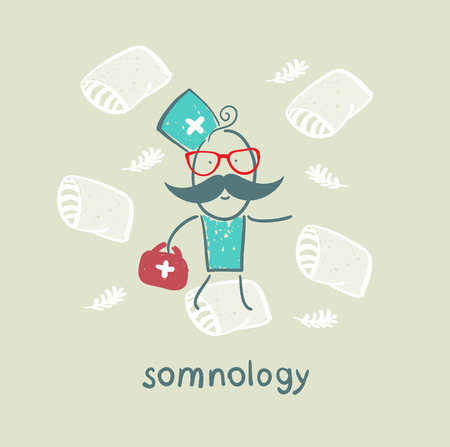 snore: somnology flies on pillows