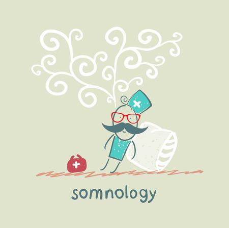 Somnology è addormentato e sogna Archivio Fotografico - 22661851