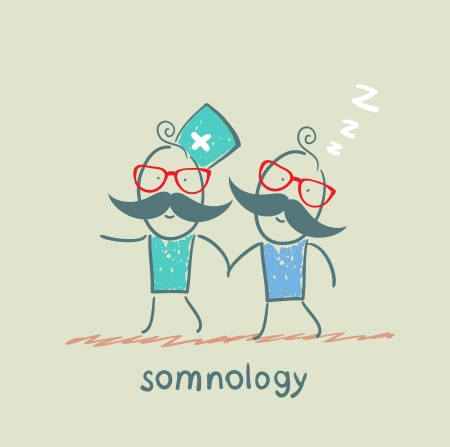 snore: somnology  with a patient who has fallen asleep