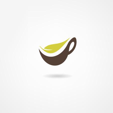 coffee leaf: tea icon