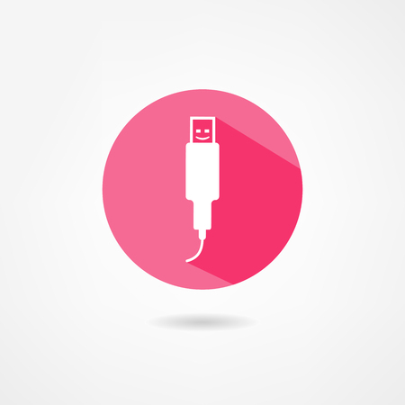 usb cable: USB icon