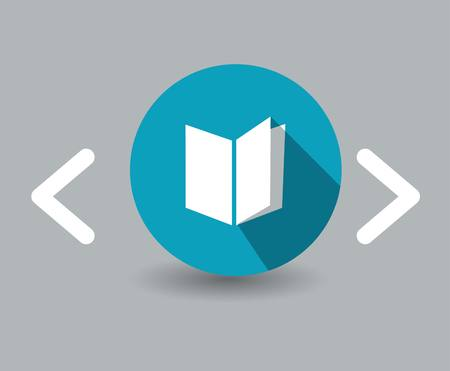 read magazine: book icon Illustration