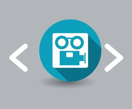 camcorder icon  イラスト・ベクター素材