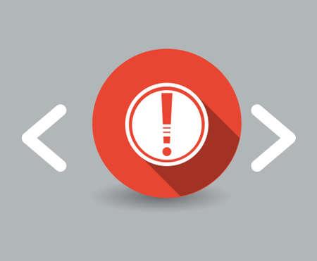 interface menu tool: icona di cautela Vettoriali