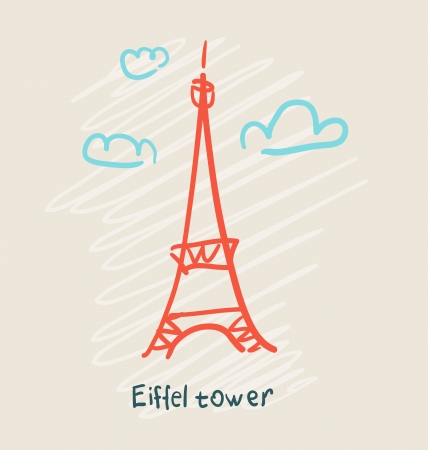 Eiffel Tower icon Иллюстрация