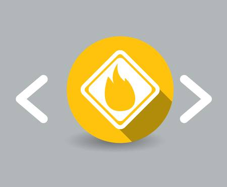 flammable: flammable icon Illustration